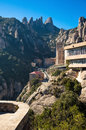 Train and furnicular stations on monserrat top photograph of a catalonia spain Stock Images