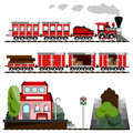 Train great set Royalty Free Stock Images