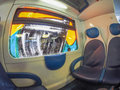 Train interior in Milan Royalty Free Stock Photo