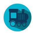Train kids toy icon