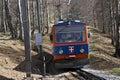 Train little of monte generoso railway in switzerland Royalty Free Stock Image