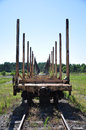 Train Lumber Cars Stock Images