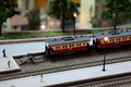 Train miniature and toy hobbie Royalty Free Stock Image