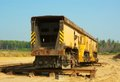 Train on mining career rail Royalty Free Stock Image