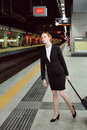 Train missed business woman has just the job and travel concept Royalty Free Stock Photo