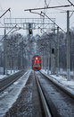 The train moves Royalty Free Stock Image