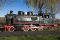 Train old locomotive based on steam engine made in resita romana Stock Photography