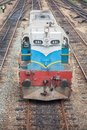 Train passing maradana old in srilanka pasing on Royalty Free Stock Image
