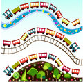 Train pattern, wallpaper Royalty Free Stock Photography