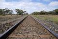 Train rails Royalty Free Stock Photo