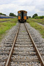 Train and railway rail Royalty Free Stock Photos