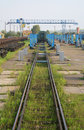 Train repair yard Royalty Free Stock Photo