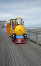 Train ride on pier colourful for children s fun rides the grand in weston super mare in somerset Royalty Free Stock Image