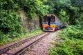 Train rides on burma railway kanchanaburi province thailand aug death in kanchanaburi province thailand aug was Royalty Free Stock Image