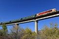 Train run on the bridge Royalty Free Stock Photo