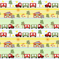 Train seamless kids pattern background texture Stock Photo
