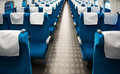 Train seat inside high speed shinkansen show rows of seats Stock Images
