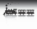 Train silhouette image of vector illustration of Royalty Free Stock Images