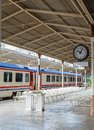 Train on Sirkeci railway station Royalty Free Stock Photo