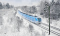 Train in snow Royalty Free Stock Photography