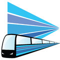 Train speed art vector illustration Royalty Free Stock Photo