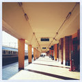 Train station empty during day Royalty Free Stock Photos