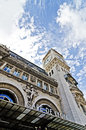 Train station gare de lyon in france tower with clock and sky Stock Images