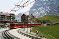 Train station in the Swiss Alps Stock Photography