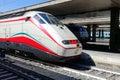 Train stops Roma Termini railway station