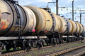 The train tanks with oil and fuel Royalty Free Stock Photography