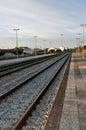 Train tracks at Leiria Royalty Free Stock Photo
