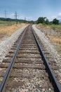 Train tracks in Luray, Virginia. Royalty Free Stock Photo