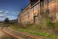 Train Tracks Pass Building