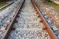 Train tracks in perspective transportation outdoor Royalty Free Stock Photos