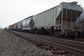 Train Tracks and Rail cars Royalty Free Stock Photo