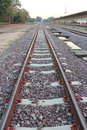 Train Tracks,Railroad tracks Royalty Free Stock Photo