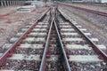 Train Tracks,Railroad tracks Royalty Free Stock Photo