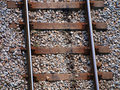 Train tracks - top view Royalty Free Stock Photo