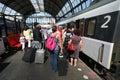 Train Travelers Stock Photography