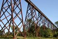 Train trestle Stock Photography
