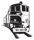 Train vector illustration of a diesel locomotive Royalty Free Stock Photography