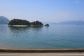 train view of Seto Inland Sea