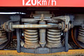 Train wheel on a track Royalty Free Stock Photo
