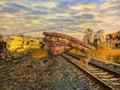 Train wreck Train Yard
