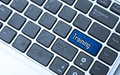 Training button on keyboard Royalty Free Stock Photo