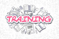 Training - Cartoon Magenta Inscription. Business Concept.