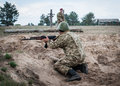Training centre of armed forces of ukraine may chernihiv region the th the s main task is to Stock Photography