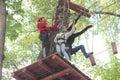 Training children climbing Royalty Free Stock Photo