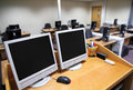 It training classroom shown from trainers desk Royalty Free Stock Photography