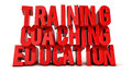 Training coaching and education text Royalty Free Stock Photo